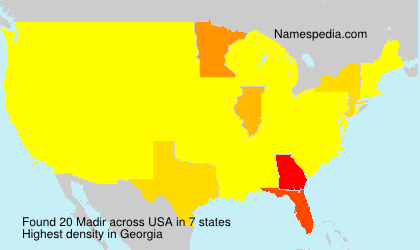 Surname Madir in USA