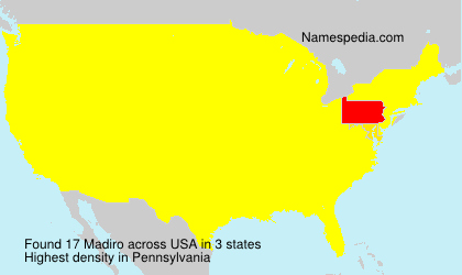 Surname Madiro in USA