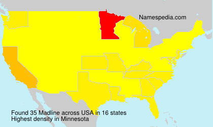 Surname Madline in USA