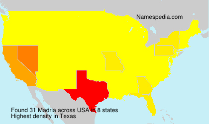 Surname Madria in USA