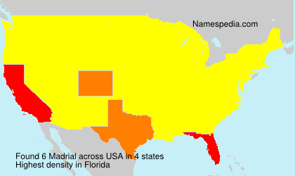 Surname Madrial in USA