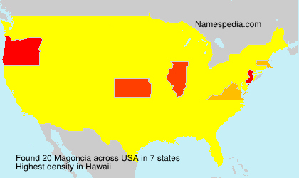 Surname Magoncia in USA
