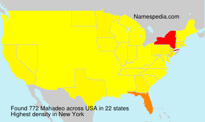 Surname Mahadeo in USA