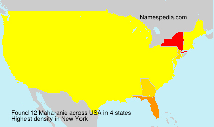 Surname Maharanie in USA