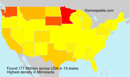 Surname Mahlen in USA