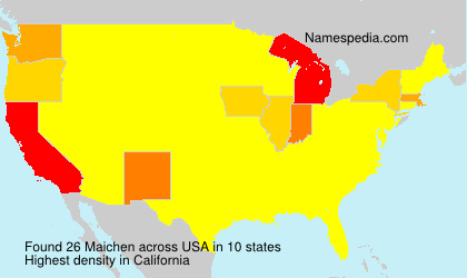 Surname Maichen in USA