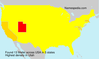 Surname Mailei in USA