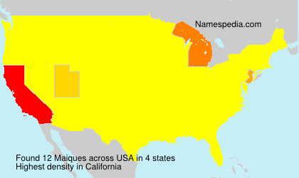 Surname Maiques in USA