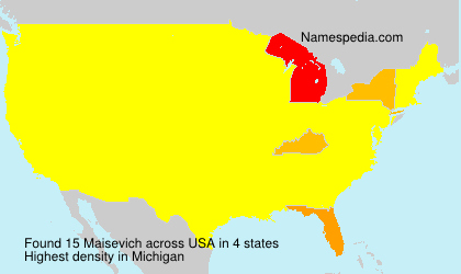 Surname Maisevich in USA