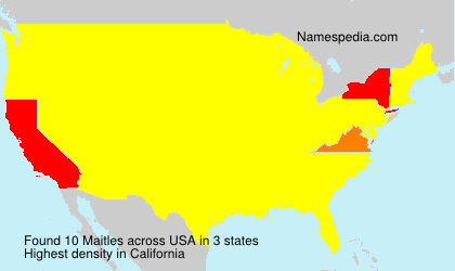 Surname Maitles in USA