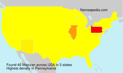 Surname Majczan in USA