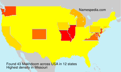 Surname Makhdoom in USA