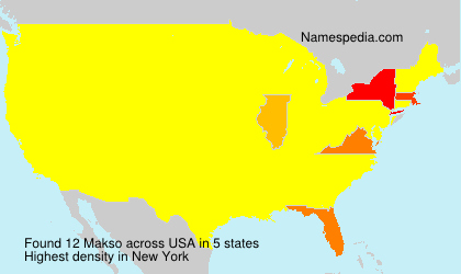 Surname Makso in USA