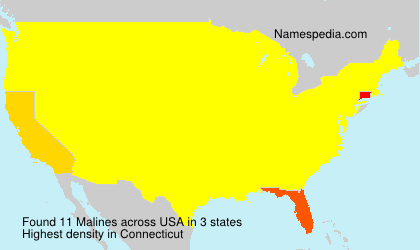 Surname Malines in USA