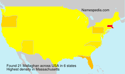 Surname Mallaghan in USA