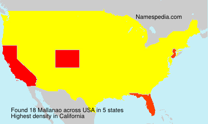 Surname Mallanao in USA