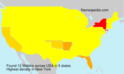 Surname Malshe in USA