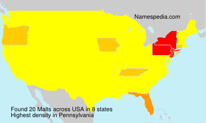 Surname Malts in USA