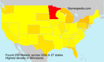 Surname Malwitz in USA