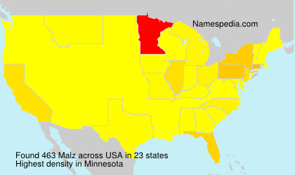 Surname Malz in USA