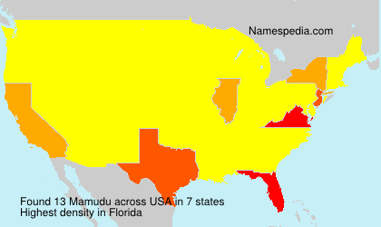 Surname Mamudu in USA