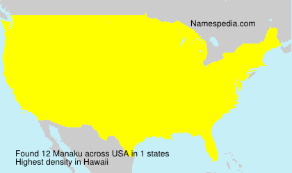 Surname Manaku in USA
