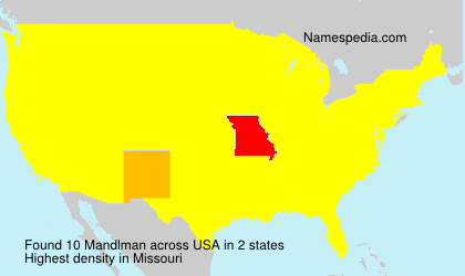 Surname Mandlman in USA
