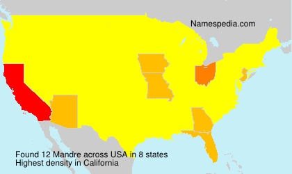 Surname Mandre in USA