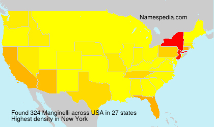 Surname Manginelli in USA