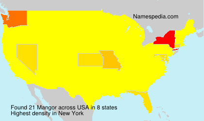 Surname Mangor in USA