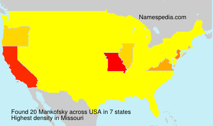 Surname Mankofsky in USA