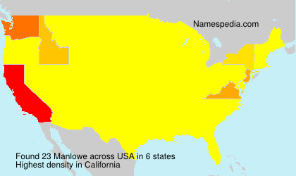 Surname Manlowe in USA