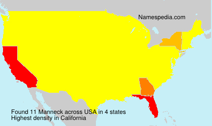 Surname Manneck in USA