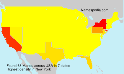 Surname Manou in USA