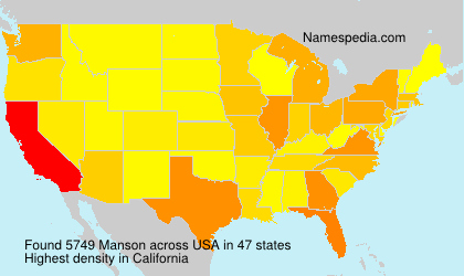 Surname Manson in USA