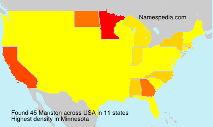 Surname Manston in USA