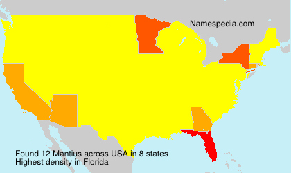 Surname Mantius in USA