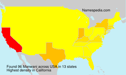 Surname Manwani in USA