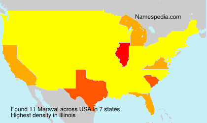 Surname Maraval in USA