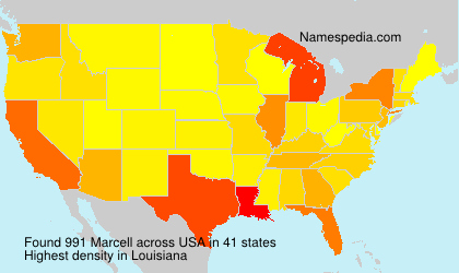 Surname Marcell in USA