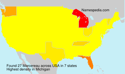 Surname Marcereau in USA