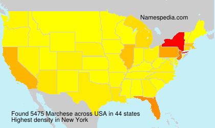 Surname Marchese in USA