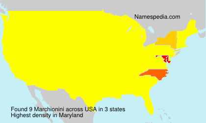 Surname Marchionini in USA