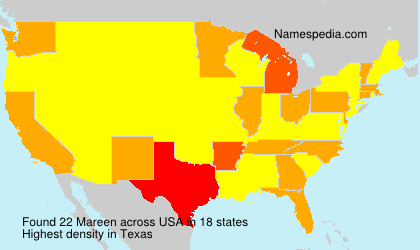 Surname Mareen in USA