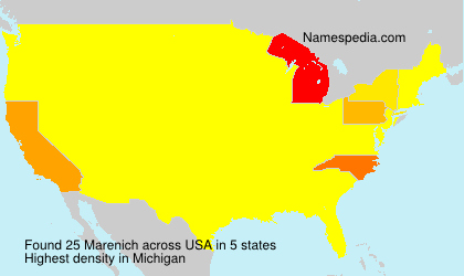 Surname Marenich in USA
