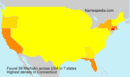 Surname Marholin in USA