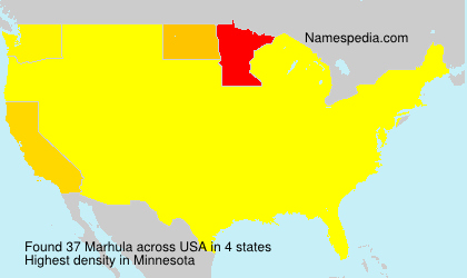 Surname Marhula in USA