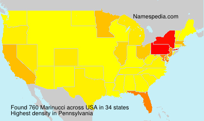 Surname Marinucci in USA