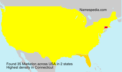 Surname Markelon in USA