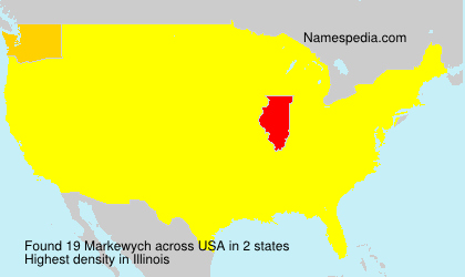 Surname Markewych in USA